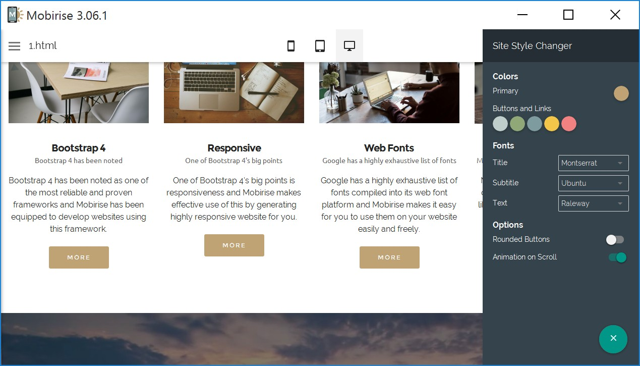 Simple Responsive Web Site Builder Review