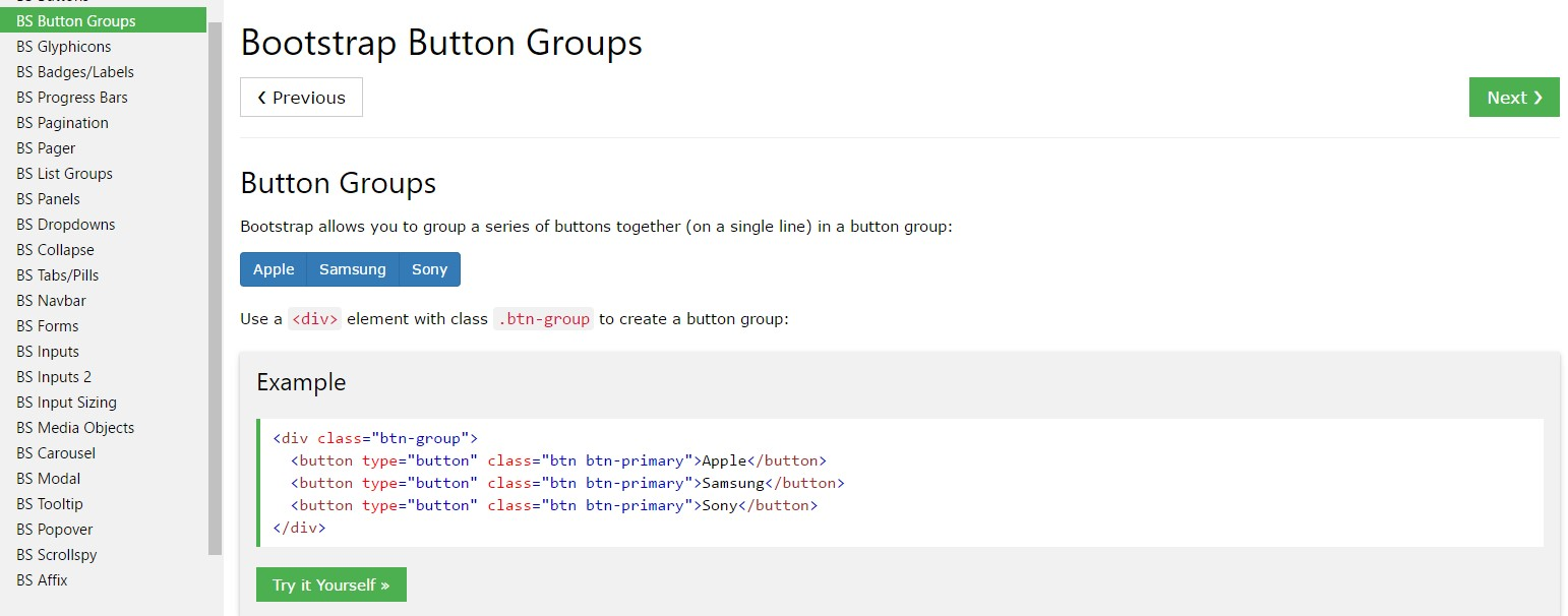 Bootstrap button group  article