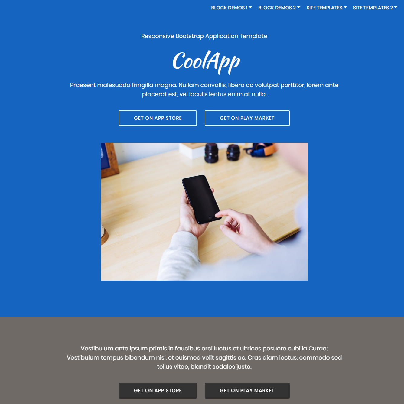 Free Bootstrap Application Templates