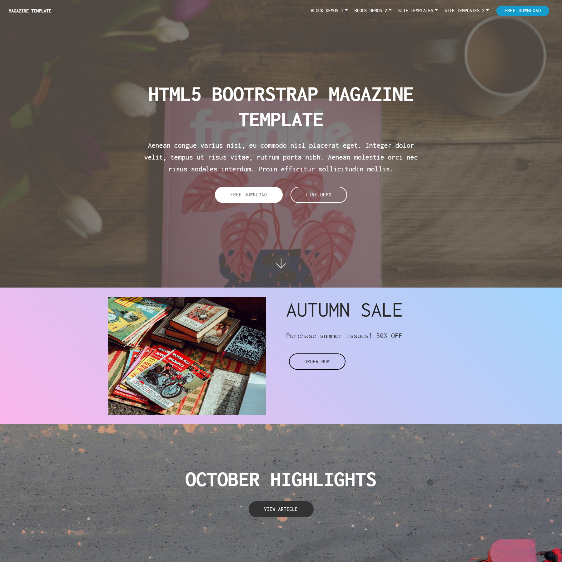 Free Download Bootstrap Magazine Themes