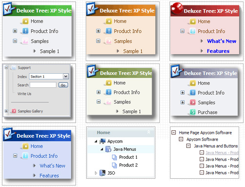 Jquery Tree Menu Xp Style Tree Dropdown Fade Menu
