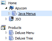 Tree Web Menu Treeview Clients Side Toggle