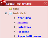 Mouseover Top Menu Tree Populate Treeview Menu Using Javascript