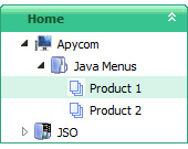 Navigation Bar Tree Java Expandable Tree View File Selector