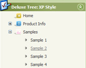 Transparent Tree Drop Down Navigation Javascript Tree Control