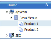 Start Menu Tree Jstree Java Example