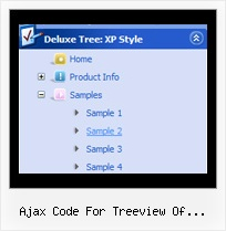 Ajax Code For Treeview Of Directory Tree Floating Side Menu