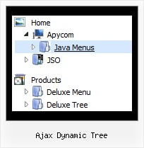 Ajax Dynamic Tree Tree Clear Select Menu Items