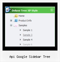 Api Google Sidebar Tree Hover And Tree