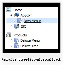 Aspxclienttreelistvaluescallback Menu Flyout And Expanding Tree