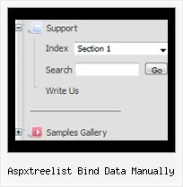 Aspxtreelist Bind Data Manually Collapsible Tree Example