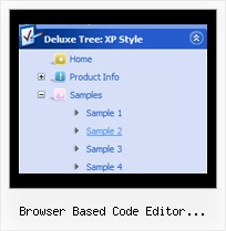 Browser Based Code Editor Javascript Tree Dhtml Tree Slide