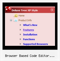Browser Based Code Editor Javascript Tree Java Menu Tree