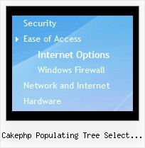 Cakephp Populating Tree Select Boxes Menu And Tree