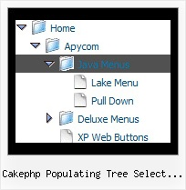 Cakephp Populating Tree Select Boxes Creating Collapsible Menus Tree