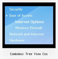 Combobox Tree View Css Tree Menu With Shadow