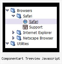 Componentart Treeview Javascript Tree Pulldown Menue