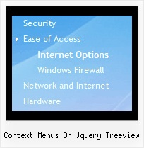Context Menus On Jquery Treeview Tree Menu From Array