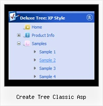 Create Tree Classic Asp Tree Mouse Over Menu