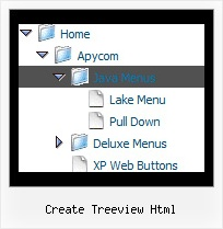 Create Treeview Html Menu Tree Horizontal Styles