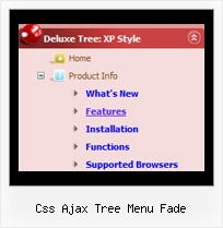 Css Ajax Tree Menu Fade Dropdown Frame Menu Tree