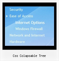 Css Colapsable Tree Vertical Tree Mouseover Menu