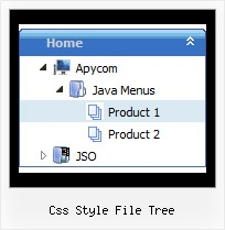 Css Style File Tree Tree Pull Down Menu Example