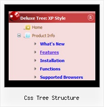 Css Tree Structure Tree Dhtml Drop Down Menu