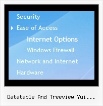 Datatable And Treeview Yui Together Tree Disable Menu Bar