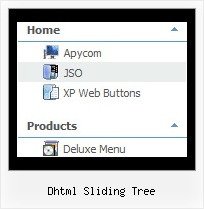 Dhtml Sliding Tree Vertical Tree Mouseover Menu