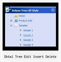 Dhtml Tree Edit Insert Delete Tree Menu Expand