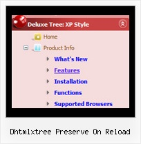 Dhtmlxtree Preserve On Reload Moving Menu Xp Style Tree