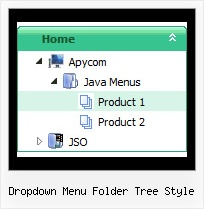 Dropdown Menu Folder Tree Style Down Tree Menu