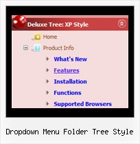 Dropdown Menu Folder Tree Style Tree For Menu