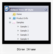 Dtree Iframe Tree Code Hide Menu Bar
