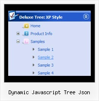 Dynamic Javascript Tree Json Cross Frame Menu Tree