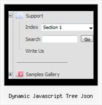 Dynamic Javascript Tree Json Tree Click Down Menu