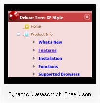 Dynamic Javascript Tree Json Tree Rollover Dropdown Menues