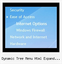 Dynamic Tree Menu Html Expand Mouseover Fade In Web Page Tree