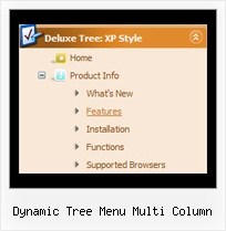 Dynamic Tree Menu Multi Column Tree Drop Shadow