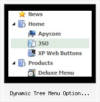 Dynamic Tree Menu Option Selection Form Menu Submenu Tree View