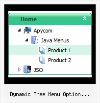 Dynamic Tree Menu Option Selection Form Tree Popup Position