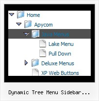 Dynamic Tree Menu Sidebar Javascript Php Tree Dhtml Transparency