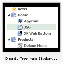 Dynamic Tree Menu Sidebar Javascript Php Tree Pulldown Sliding
