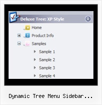Dynamic Tree Menu Sidebar Javascript Php Pulldown Mit Tree
