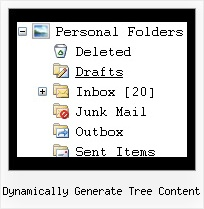 Dynamically Generate Tree Content Tree Menu Desplegable Dhtml