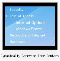 Dynamically Generate Tree Content Tree State Dropdown