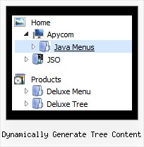Dynamically Generate Tree Content Tree Popup Tutorial