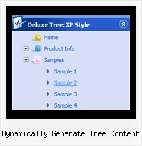 Dynamically Generate Tree Content Webmenu Tree