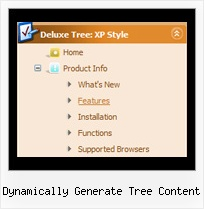Dynamically Generate Tree Content Tree Menu Dynamic Fade